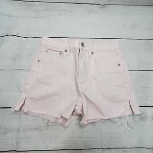 GAP Pink Sz 26 Raw Hem Jean Short